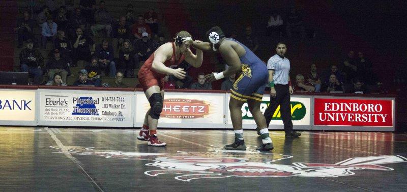 Boro wrestling pins WVU by Chris Rosato Jr.