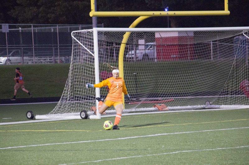 Soccer splits final two games by Erica Burkholder