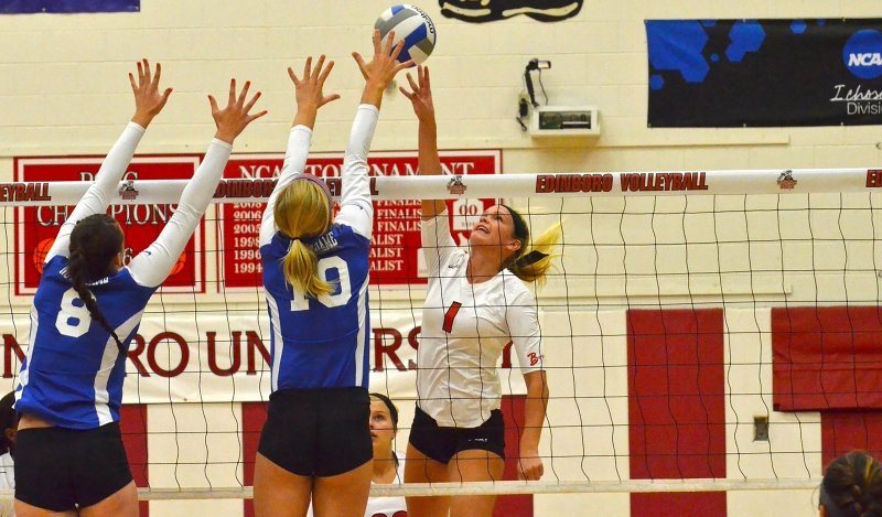 Women's volleyball continues hot start at Virginia State by Becca Martin