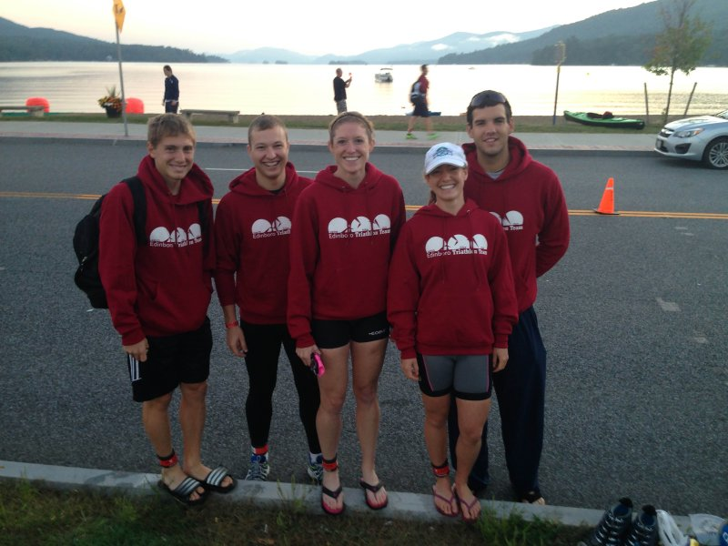 Edinboro Triathlon Club competes in Lake George Olympic-Distance Triathlon by Tyler Trumbauer