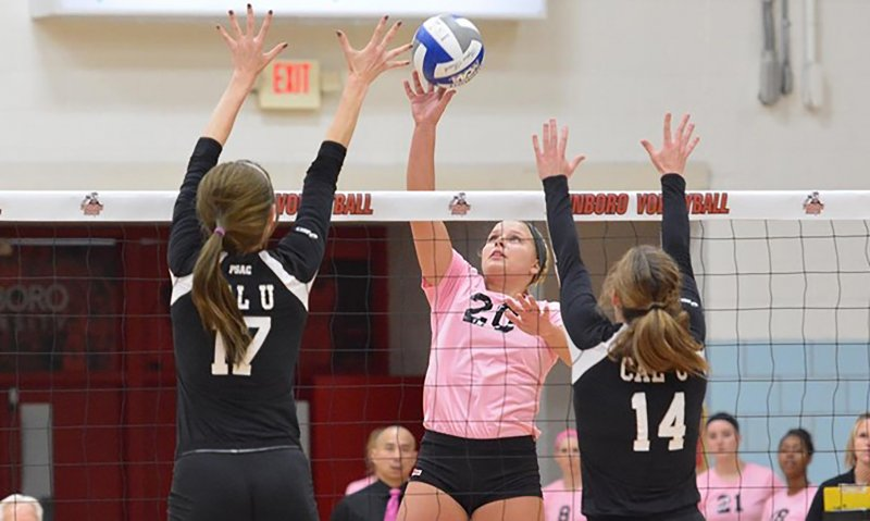 Women's volleyball sweeps defending champs in PSAC quarterfinals  by Becca Martin