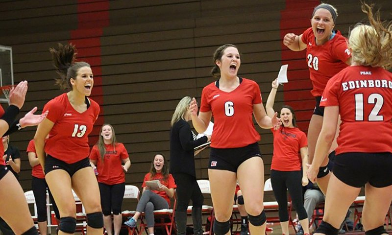Women's volleyball upset in PSAC semis, qualifies for NCAAs by Tyler Trumbauer