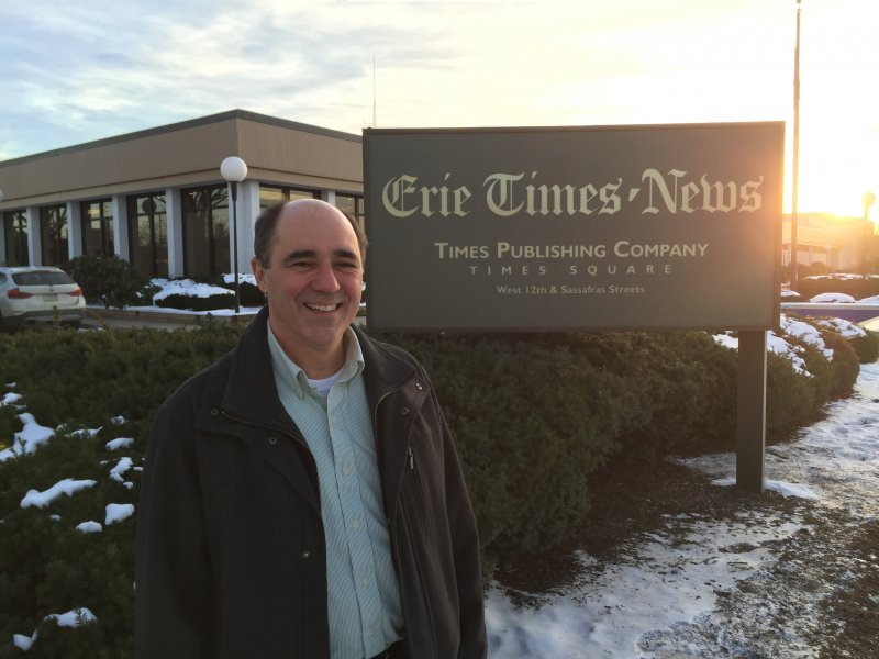 Recently Retired Edinboro Alum Reflects on Career at Erie Times-News by Macala Leigey