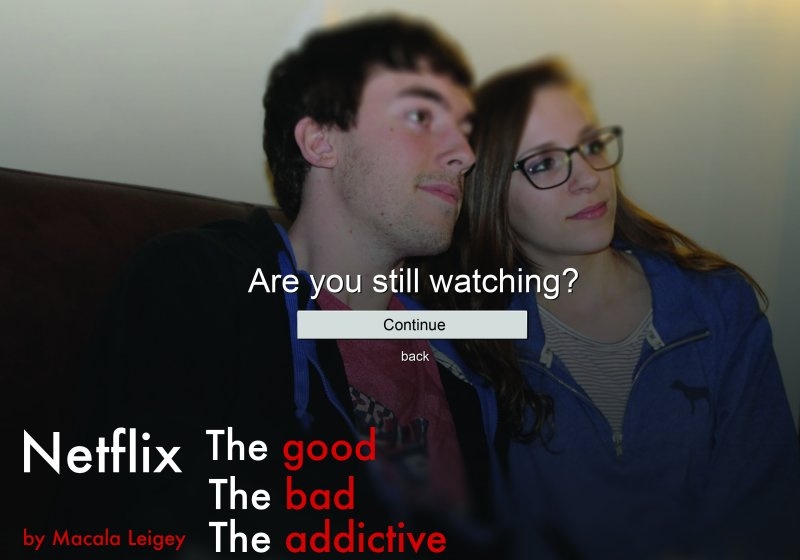 Netflix: The Good, The Bad, The Addictive by Macala Leigey