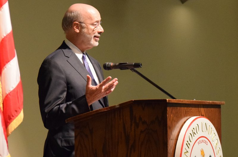 Gov. Wolf visits Edinboro, addresses students by Dakota Palmer