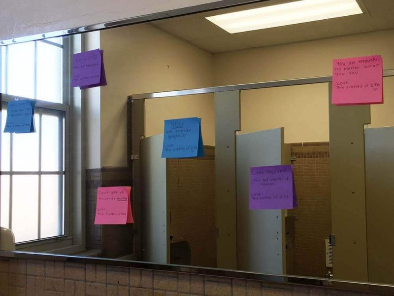 Positive sticky notes reappear with known author by Macala Leigey