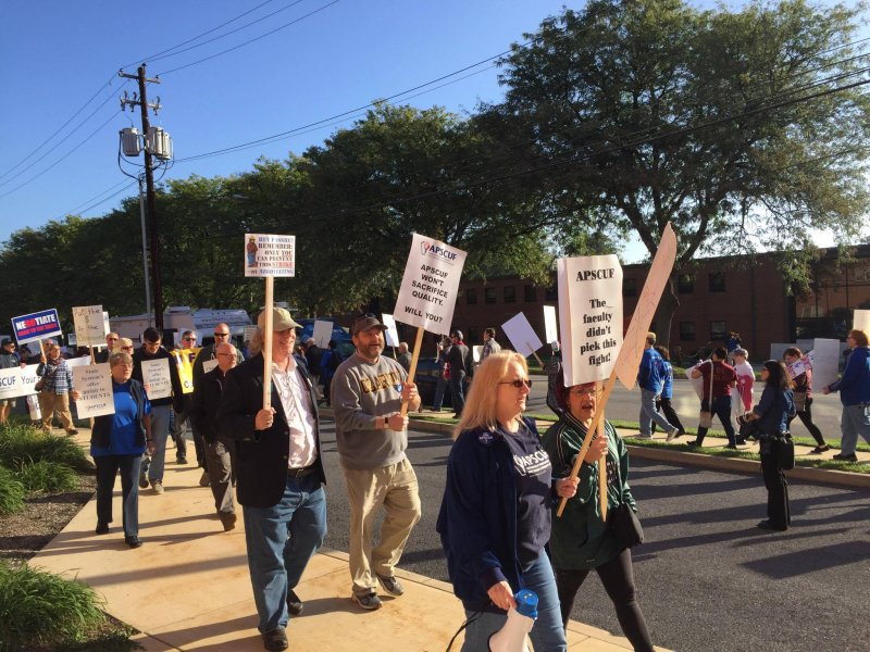 APSCUF rallies outside Board of Governors meeting by Macala Leigey