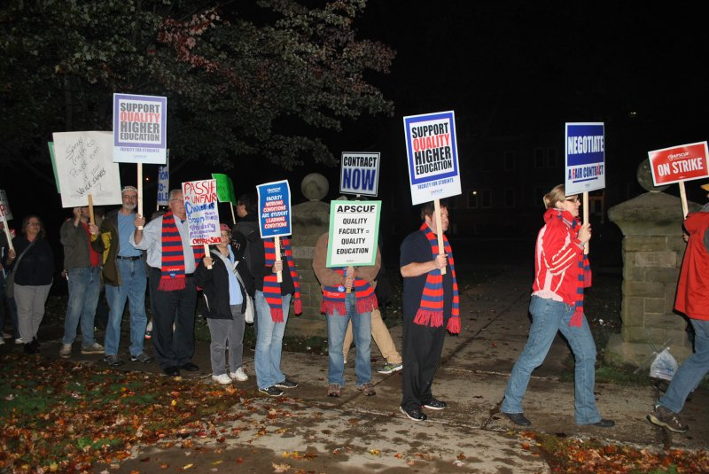 APSCUF members officially strike by Macala Leigey
