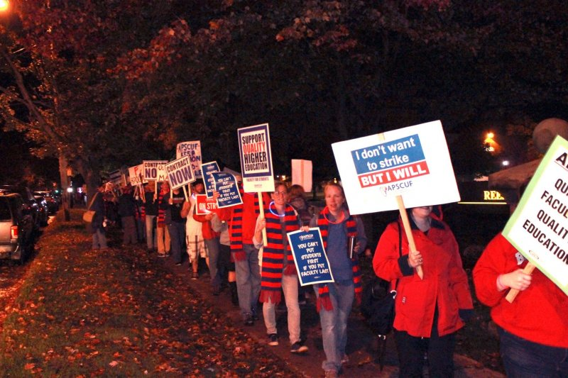 The strike begins: APSCUF members rally across PA by Macala Leigey