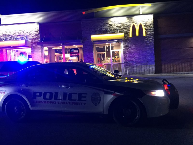 Individual hit by car at Edinboro McDonald's by Macala Leigey