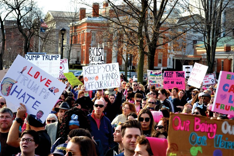 Women's march takes place in Perry Square by Anna Ashcraft and Dakota Palmer