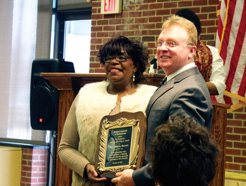 Awards ceremony honors student and Edinboro retiree by Aaron Foster-Williams