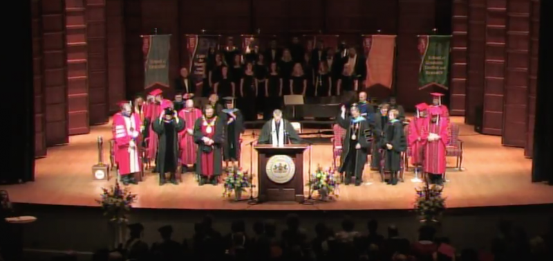 Watch: Inauguration of H. Fred Walker as president by Edinboro Televison