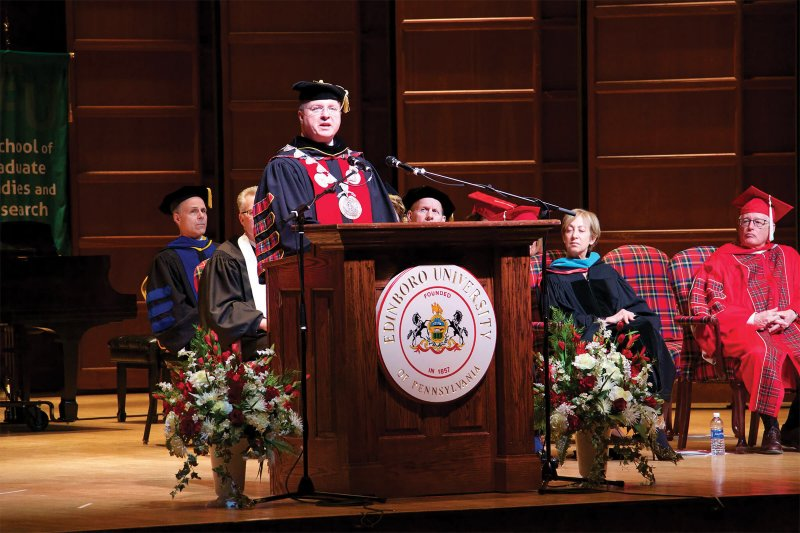 Walker installed as 18th president of Edinboro University by Dakota Palmer