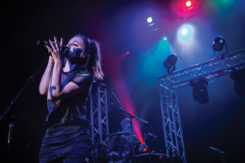 Daya rocks McComb Fieldhouse by Kimberly Firestine