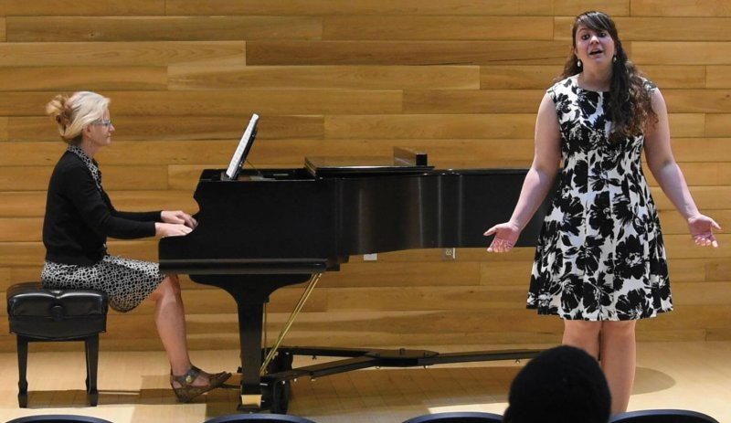 Annual Esther Alice Estock Scholarship competition held in Dr. William P. Alexander Music Center by Sarah Schroeder