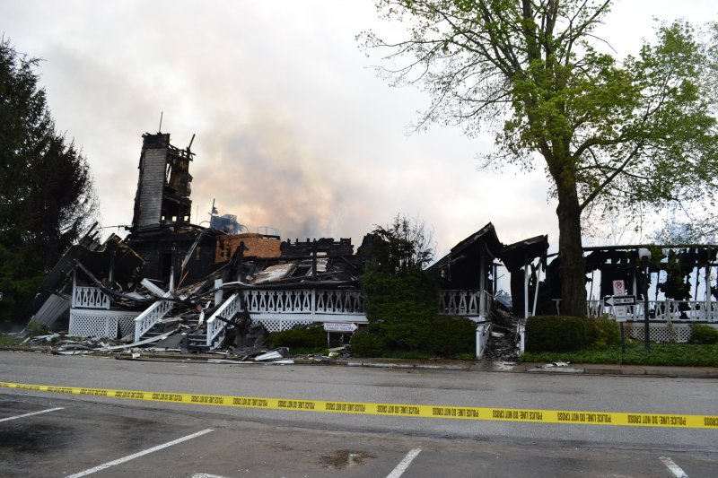 Fire demolishes Riverside Inn in Cambridge Springs by Dakota Palmer