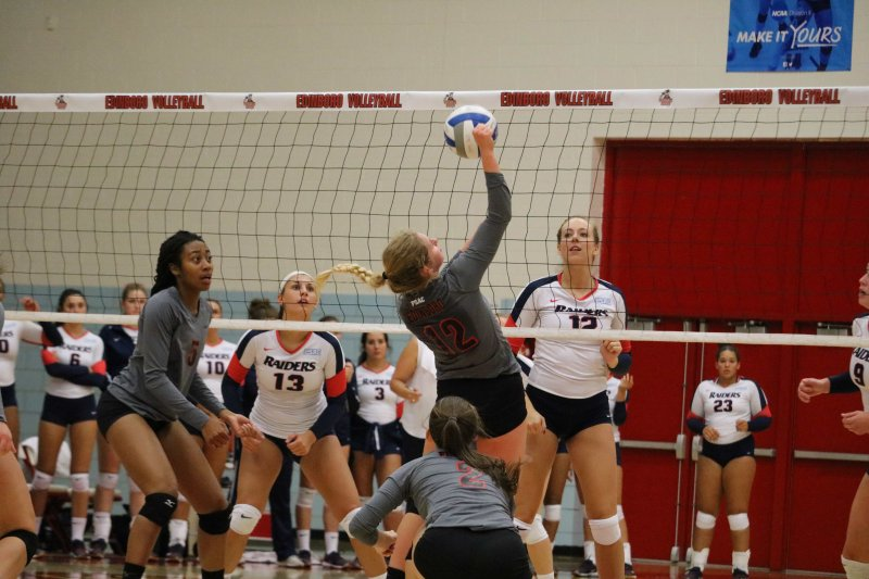 Women's volleyball splits past two games by Macala Leigey and Madi Gross