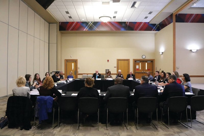 Governor representatives hold private meeting at Edinboro by Macala Leigey
