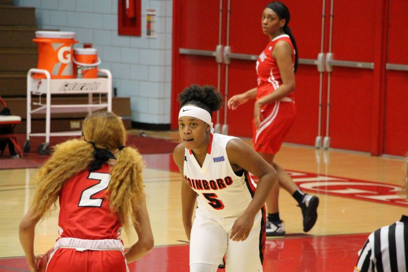 Undefeated women's basketball tops Wheeling Jesuit University, 77-67 by Erica Burkholder