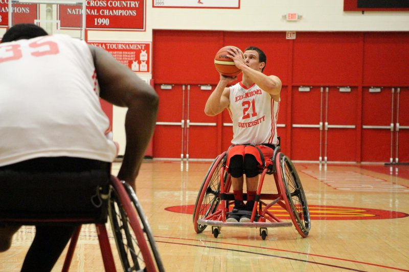 Wheelchair basketball hosts tournament, wins 1 of 4 by Erica Burkholder