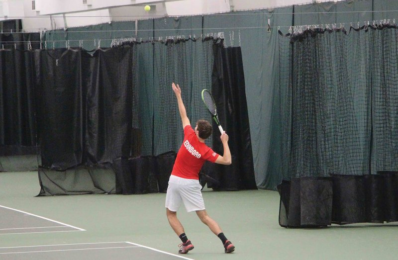 Men's tennis wins against Charleston by Erica Burkholder