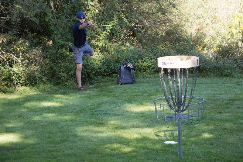 New course hosts inaugural disc golf tournament by Erica Burkholder