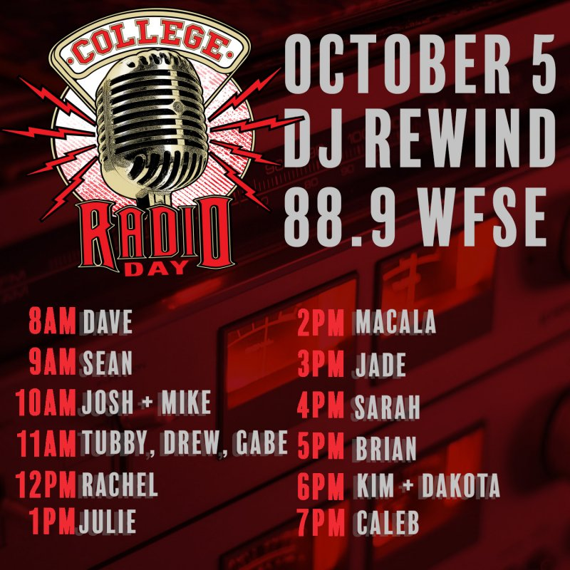 College Radio Day 2018  by WFSE Radio
