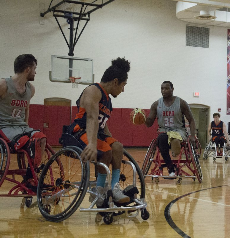 Wheelchair basketball splits home tournament by Erica Burkholder