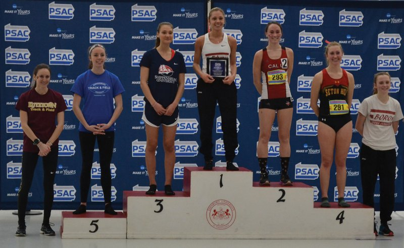 Women's track crowns All-PSAC trio by Amber Chisholm