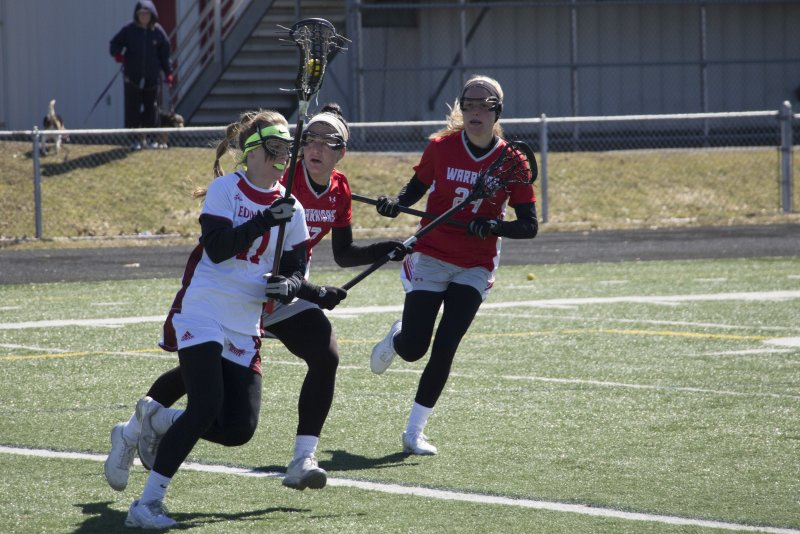 Warriors invade Sox Harrison, lax defenseless by Erica Burkholder