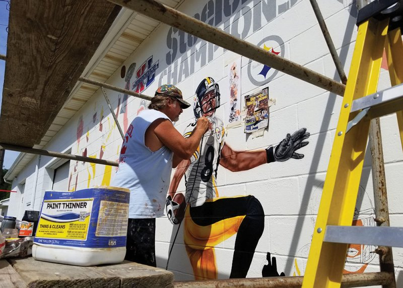 New Steelers mural sets stage for grand entrance into Edinboro by Paul Petrianni