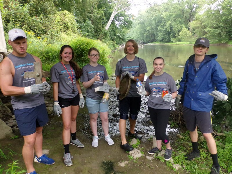 Seed Club participates in French Creek clean-up, gathers 380 pounds of trash by Amber Chisholm
