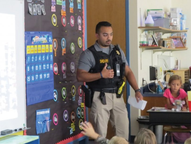 Safety training takes place throughout district, resource officer visits classrooms by General McLane School District