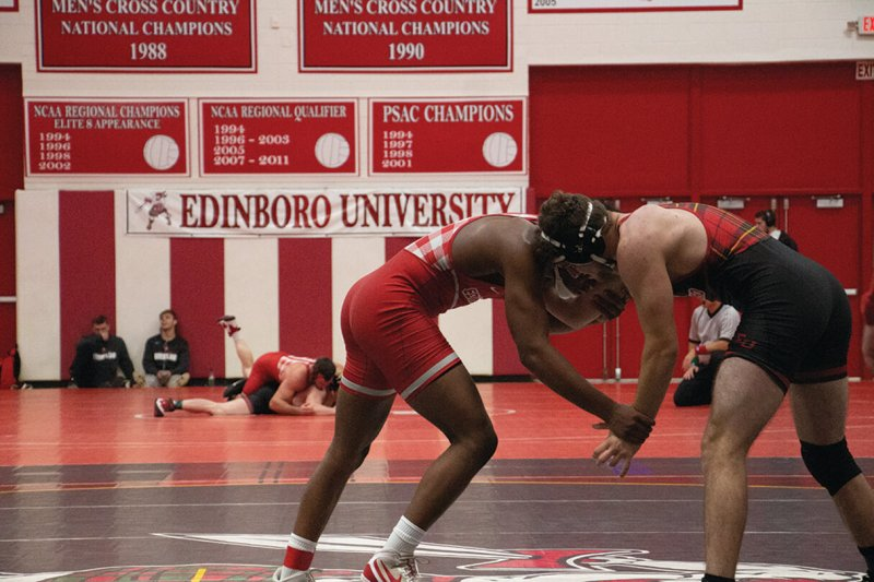 Edinboro wrestling goes undefeated at Mid-American Conference Duals by Shayma Musa