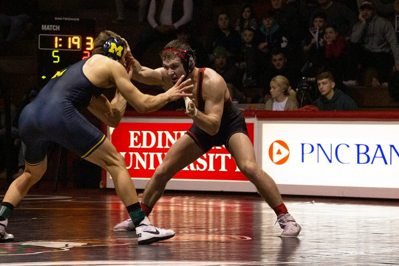 Fighting Scots wrestling welcomes in powerhouse Michigan by Paul Petrianni