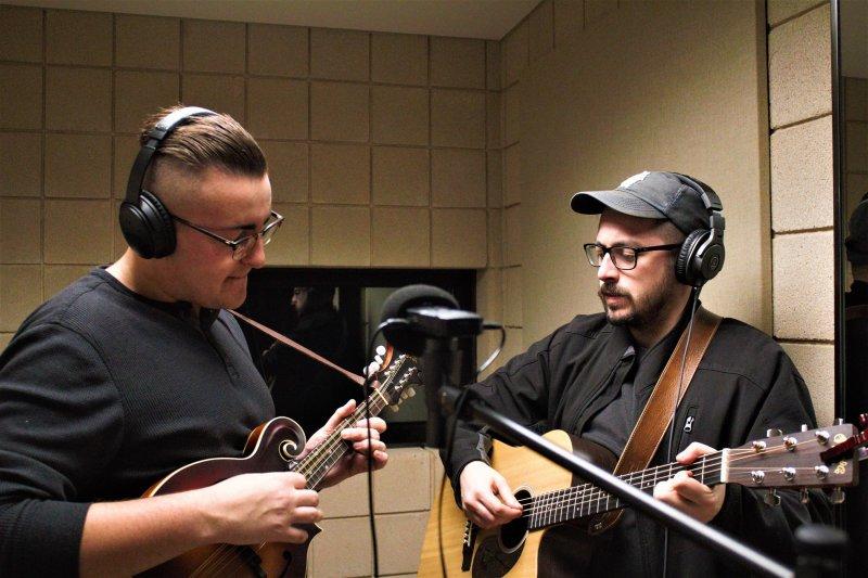 Open mic regulars form Boro Bluegrass by Rhiannon Pushchak & Hazel Modlin