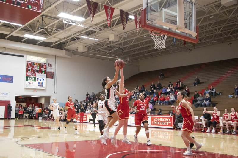 Women's B-ball drops last regular season game to Seton Hill by Steven McGarvie