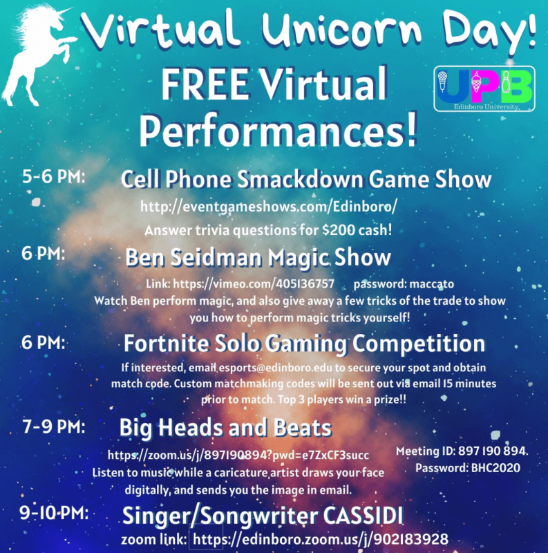 Unicorn Day activities taking place throughout April 9 by Courtney Balcombe