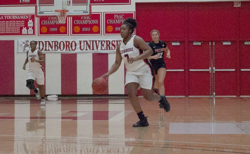 Women's basketball dunks Cal U 77-53, clinches playoff spot by Jackson Loepp