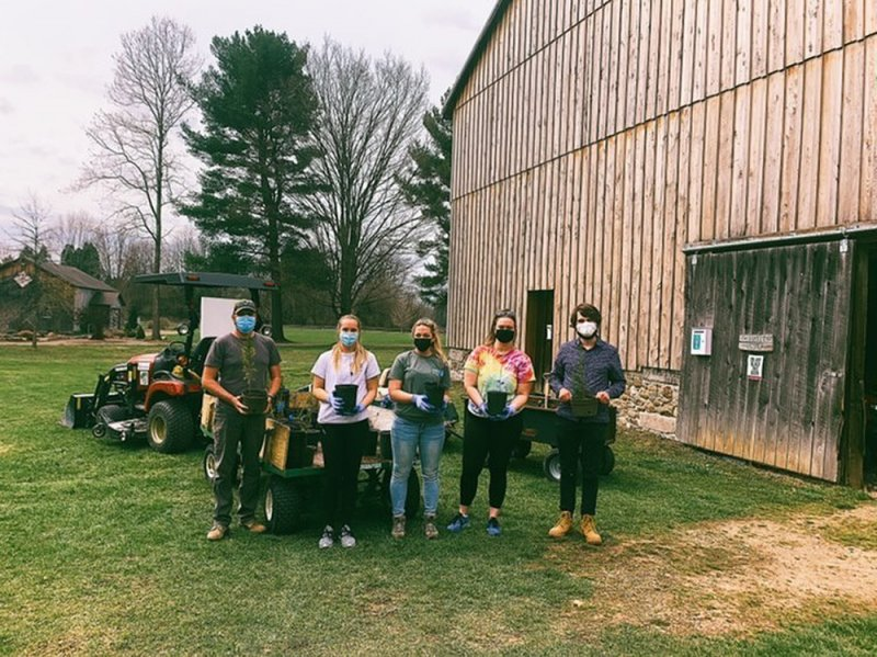 Campus SEED club plants trees at Goodell Gardens by Julia Carden
